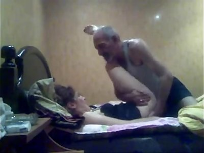 ARAB - OLD MAN with her Office Colleuge -